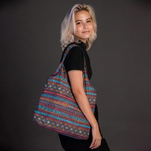 ถุงผ้า-Nano Bag-กระเป๋าลดโลกร้อน-ถุงผ้าshopping-geometric