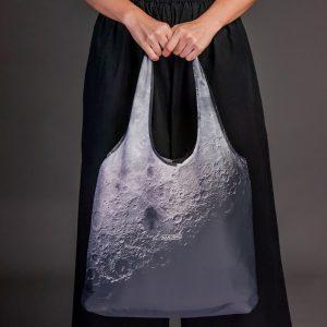 ถุง-shopping-bag-Nano Bag-กระเป๋าลดโลกร้อน-ถุงผ้าshopping-สี moon