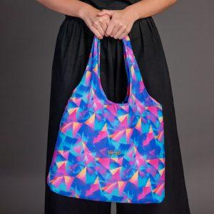 ถุงผ้าร่ม-Nano Bag-กระเป๋าลดโลกร้อน-ถุงผ้าshopping-สีretro